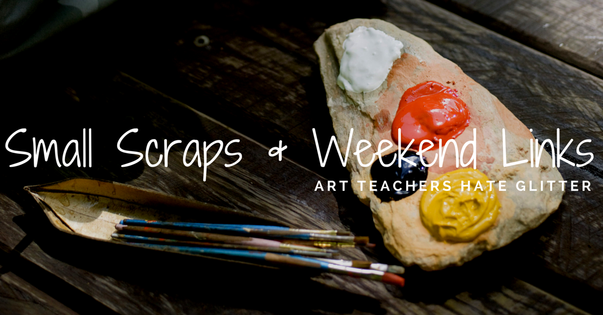 Small scraps and weekend links athglitter.com